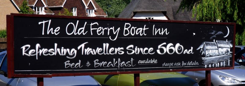 old ferry boat sign