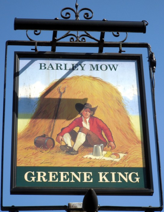 barley mow histon sign
