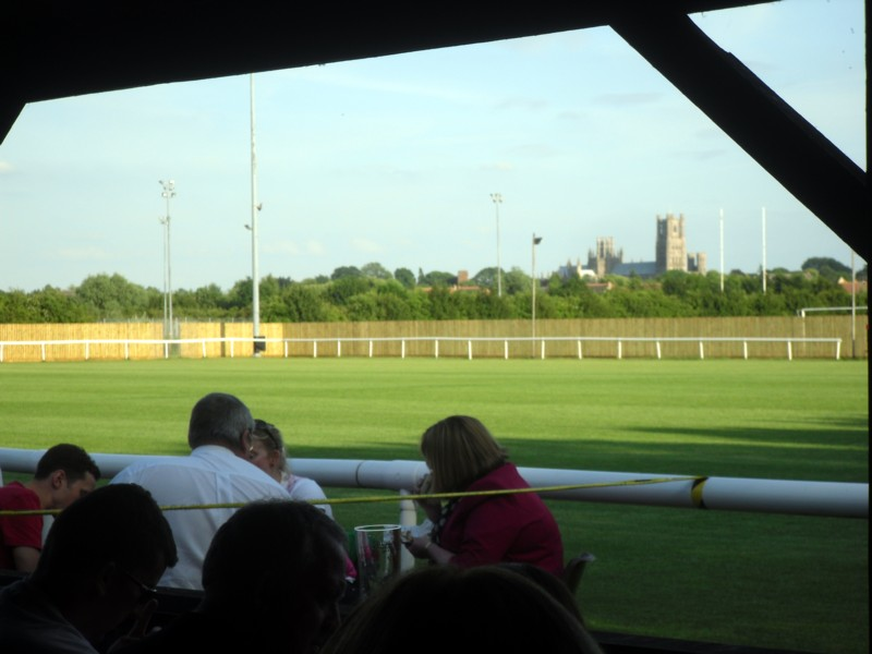 ely cathedral from the football grounds