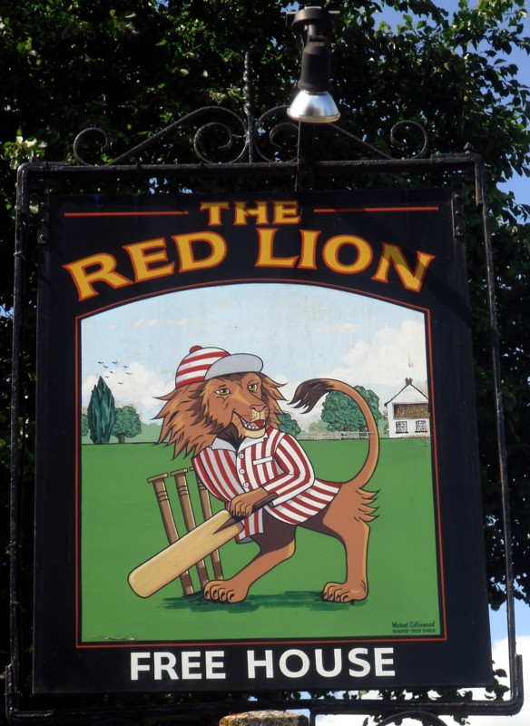 red lion histon sign