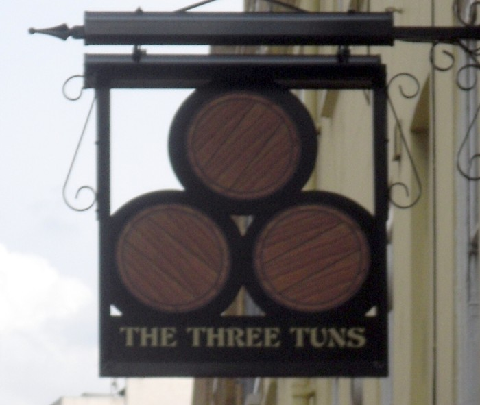 three tuns sign