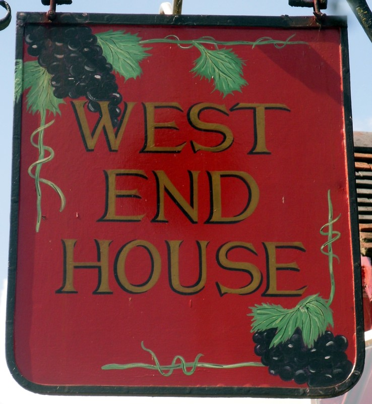 west end house sign