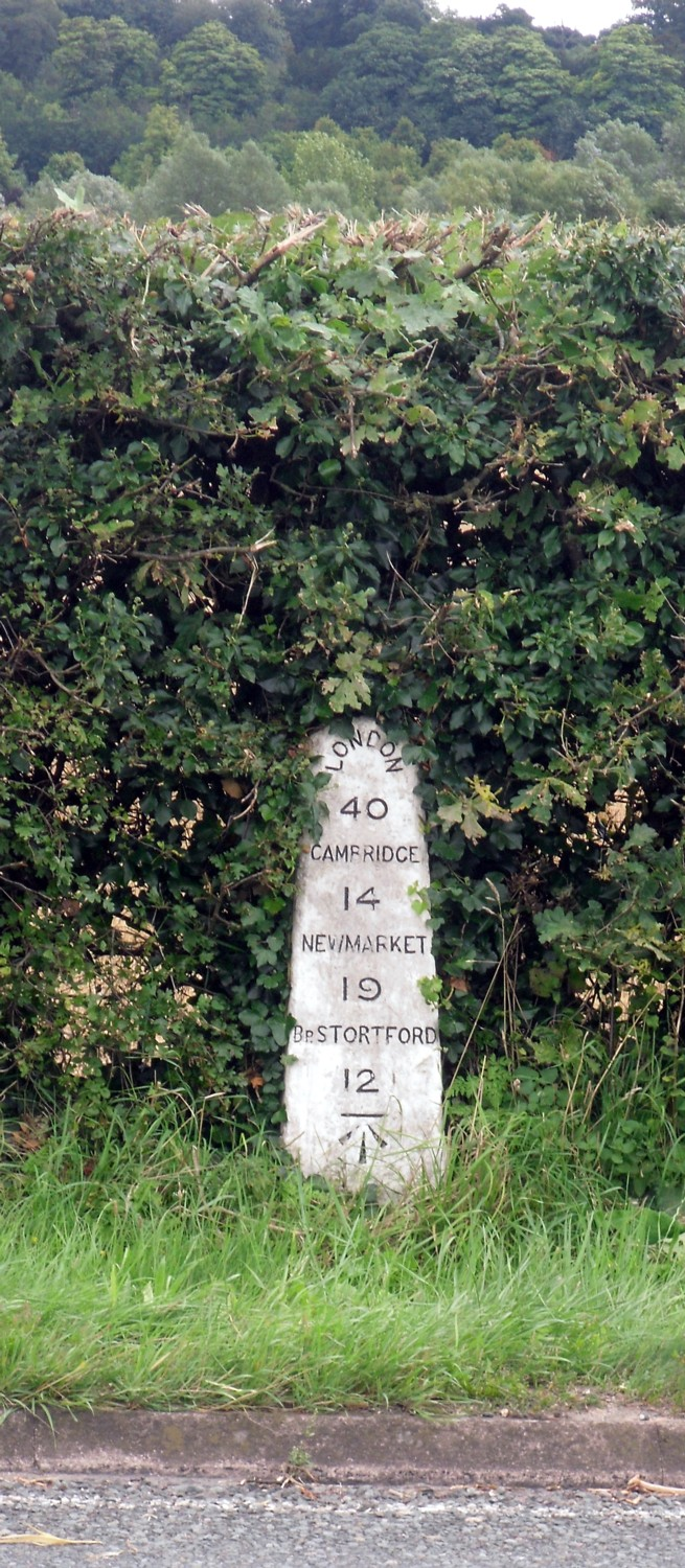 milestone near audley end 14 Aug 2009