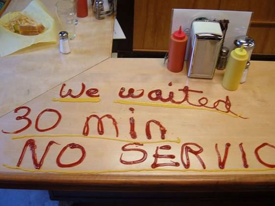 found on web...actually, we just got incompetent and snarky service