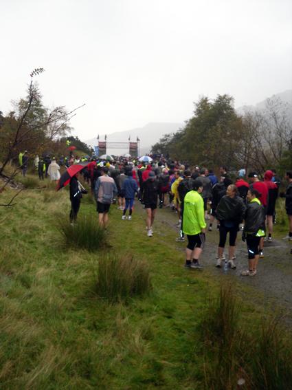 Snowdon Marathon startlining up