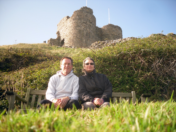 Us at Criccieth Castle