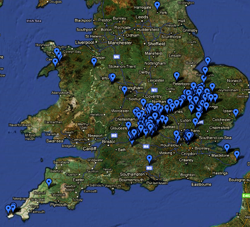 Map Of Uk Pubs.2011 The Endless British Pub Crawl Page 39