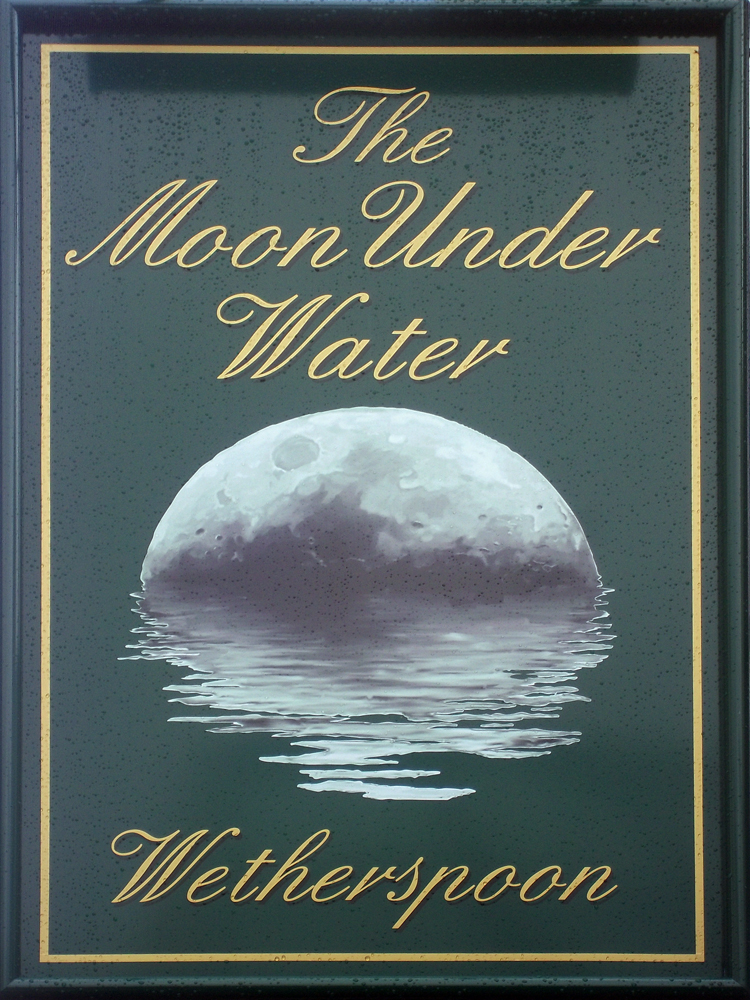 the moon under water is a 1946 essay by george orwell George orwell lists 10 reasons for visiting his favourite pub in his 1946 essay the moon under water yesterday, i had something of a shock when i tried to pay a return visit to orwell's moon under water for a refreshing pint in the beer garden the pub has been closed down the beer garden is now a car park.