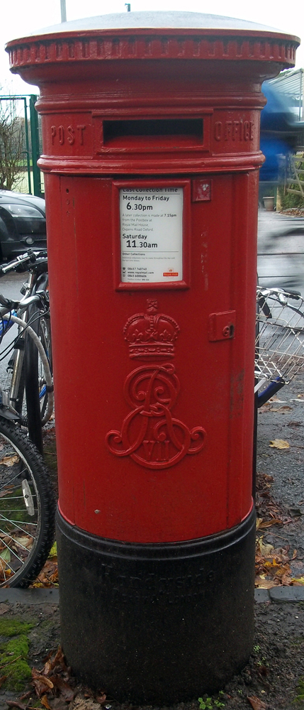 Edward's postbox on Mansfield Road, Oxford