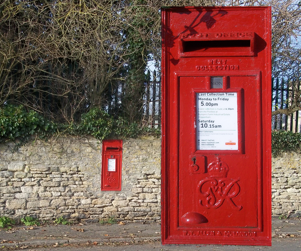 George's postbox in Notton, Wiltshire