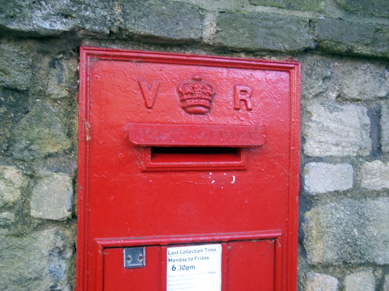 Victoria's postbox at corner of Park and South Parks Roads, Oxford