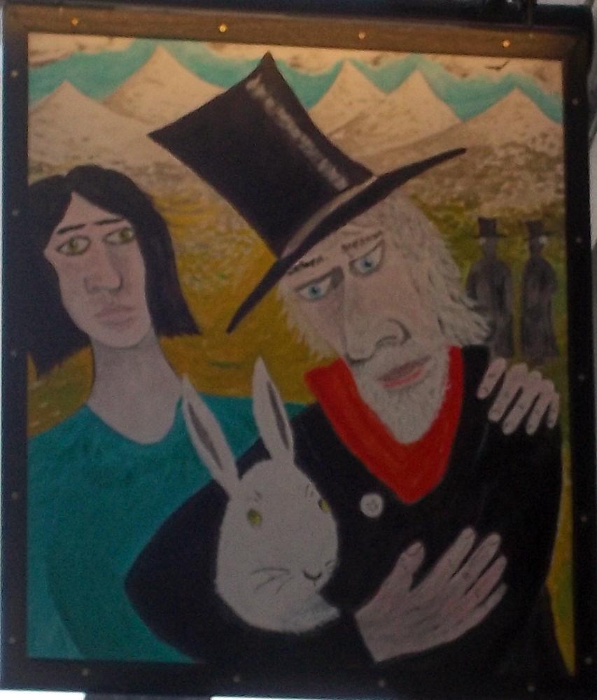 white rabbit oxford sign