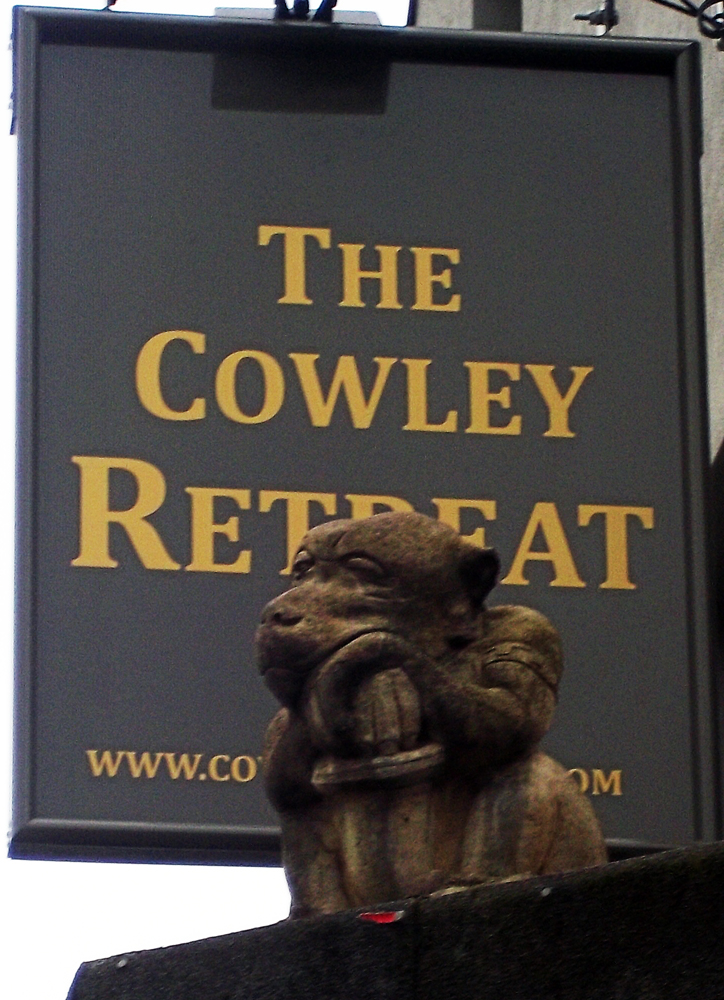 cowley retreat oxford sign