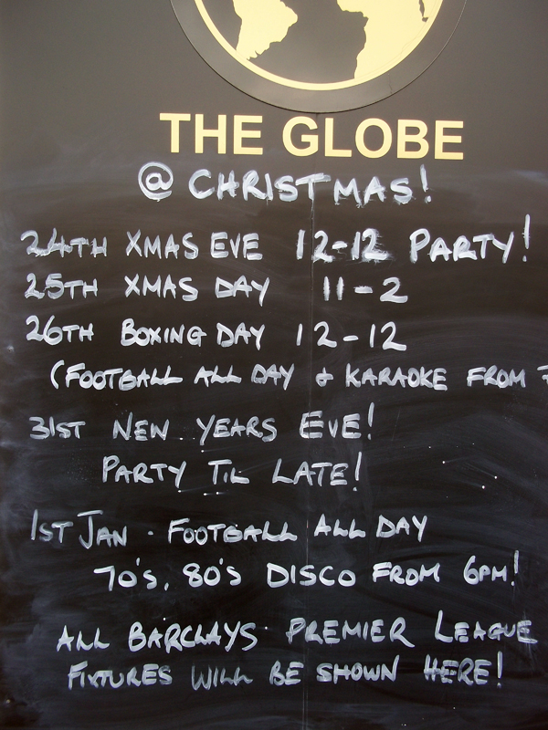The holiday 'what's on' board is still up, but we'll keep an eye out for interesting announcements