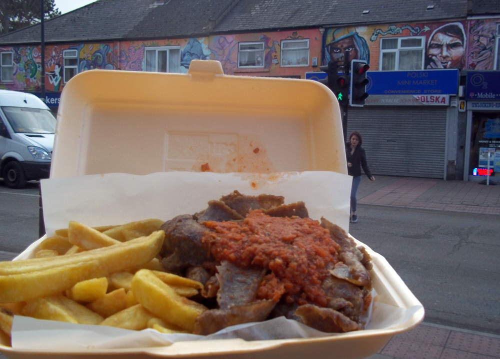 bodrum Oxford cowley road kebab and chips