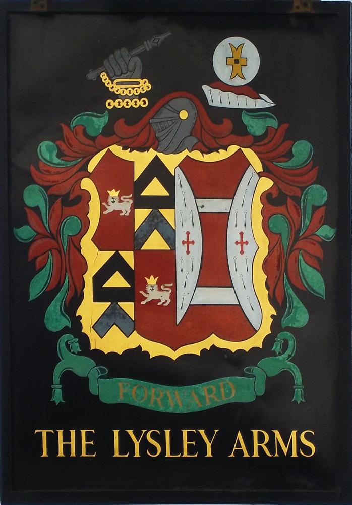 lysley arms chippenham sign