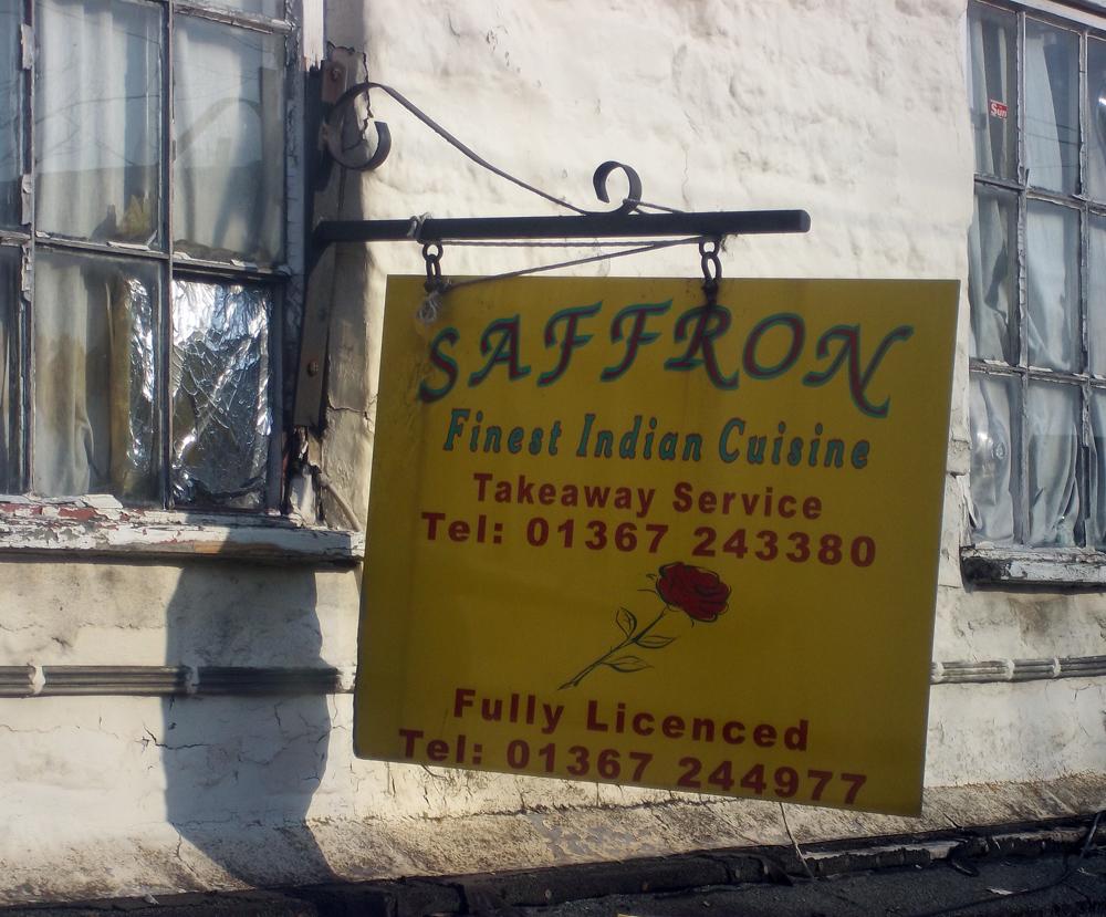 2013-03-28 saffron indian farringdon sign soon to fall