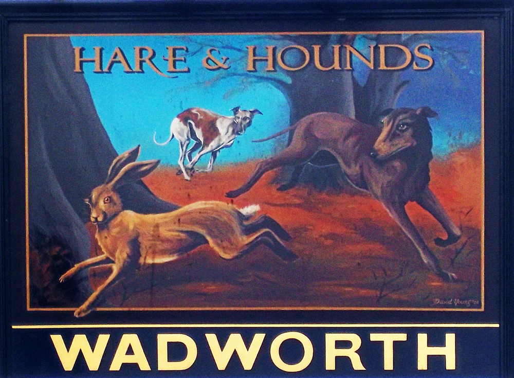 hare and hounds devizes sign