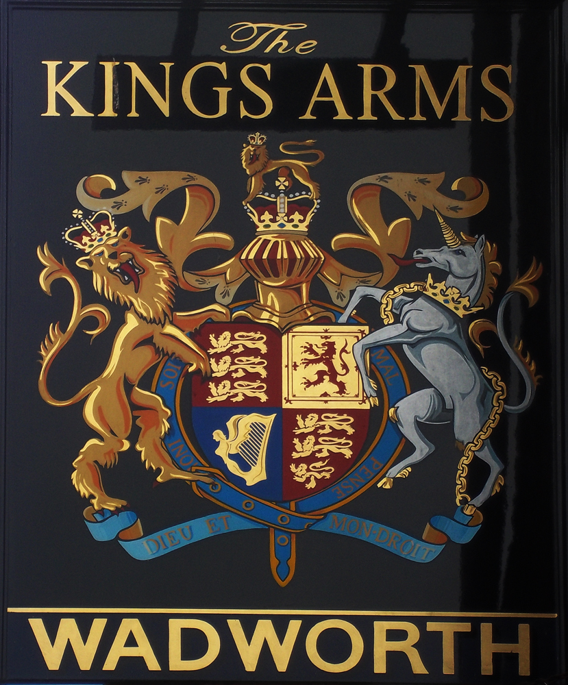 king's arms all cannings sign