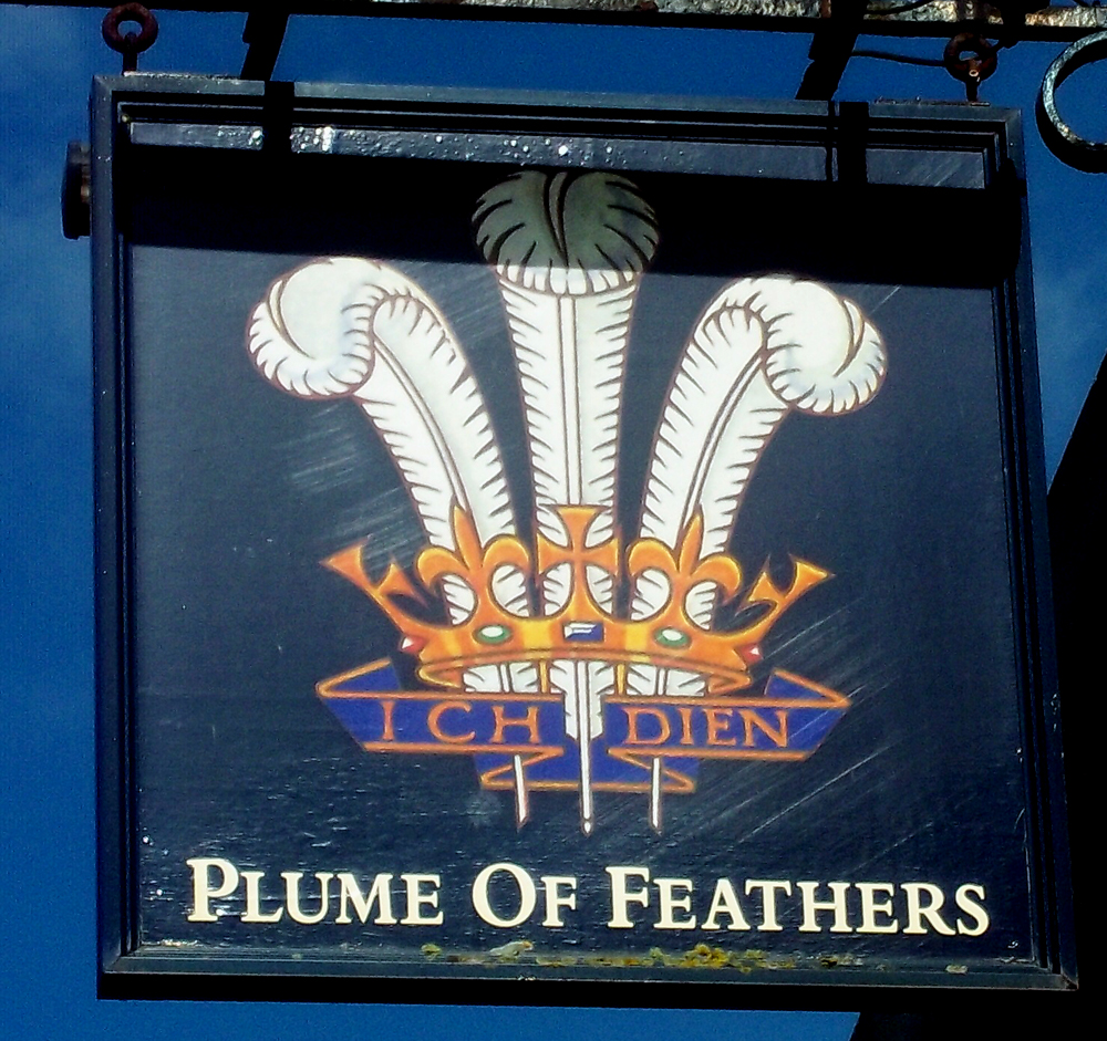 plume of feathers hungerford sign
