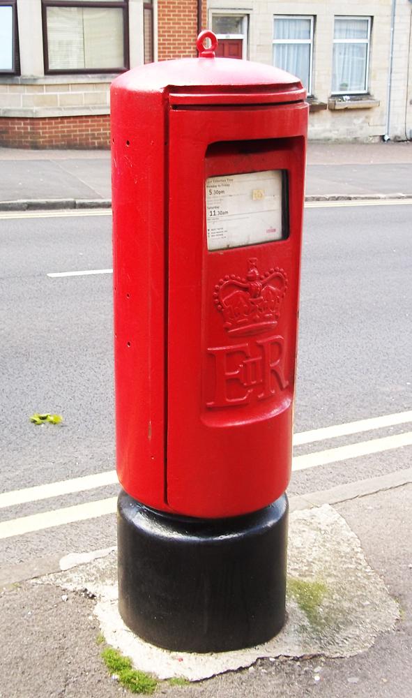 1980 K pillar letter box