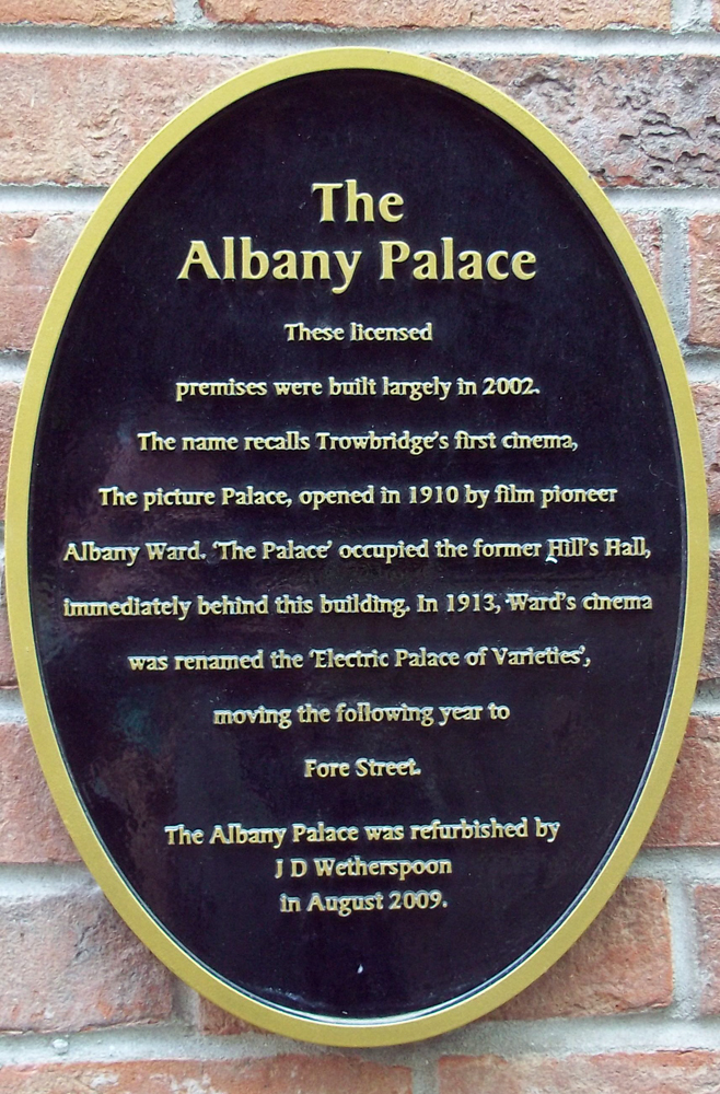 albany palace trowbridge sign