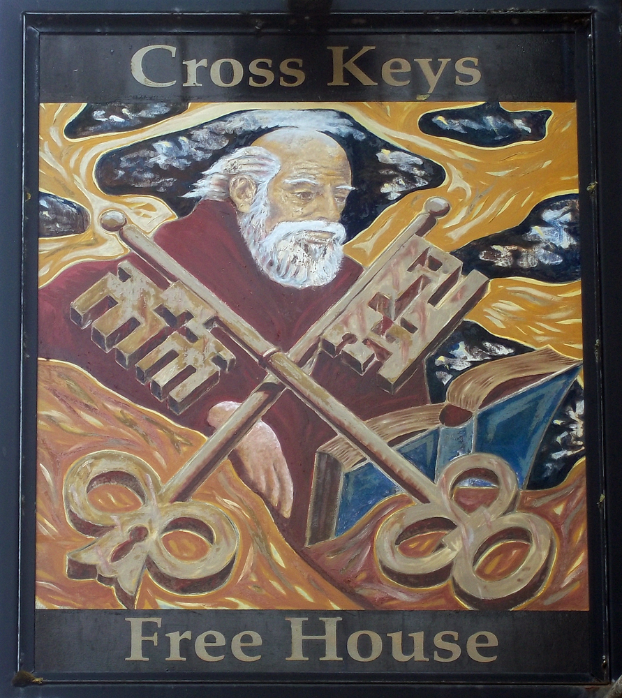 cross keys rode sign