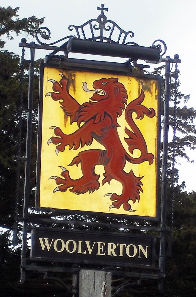 red lion woolverton sign