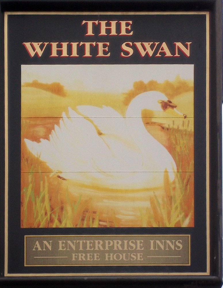 white swan trowbridge sign