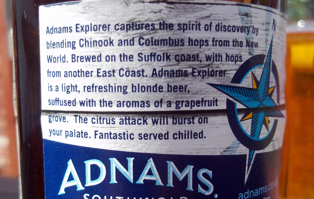 adnams explorer back