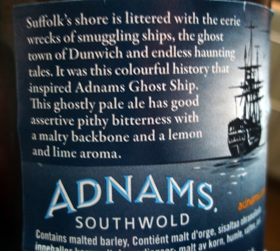 adnams ghost ship back