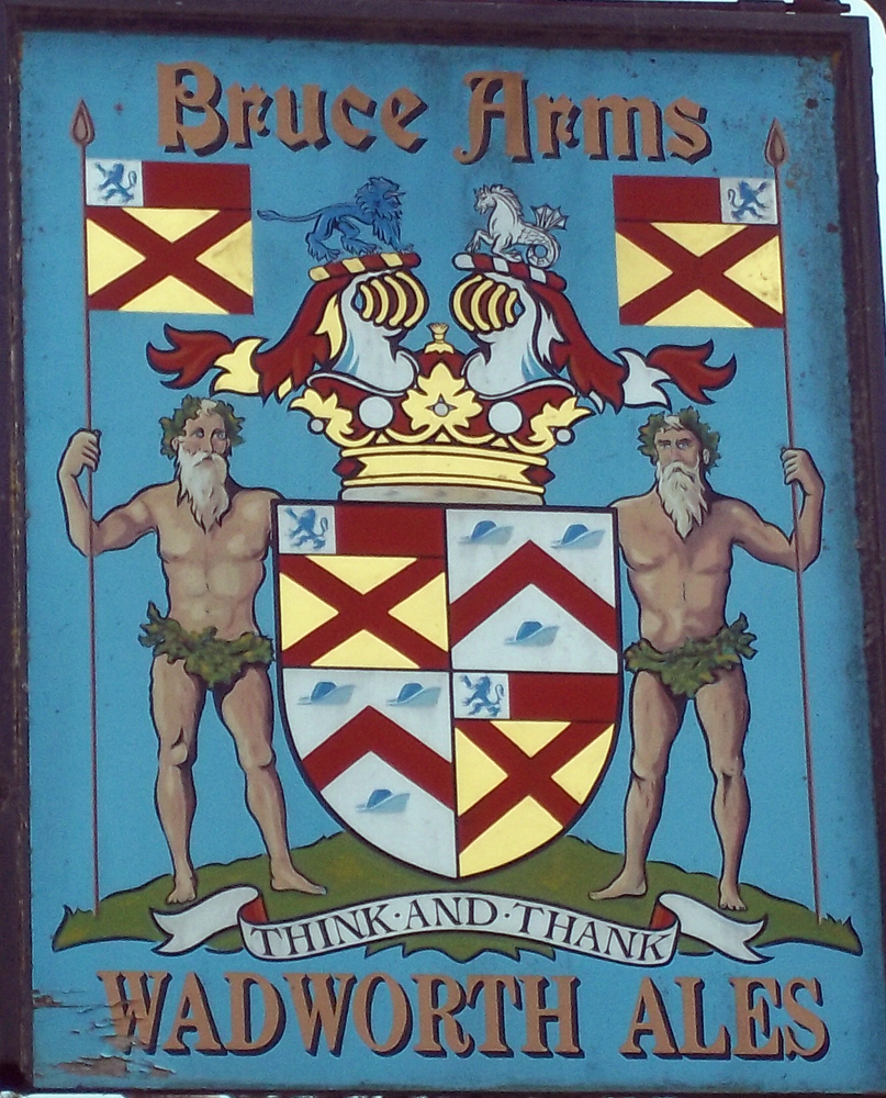 bruce arms easton royal sign