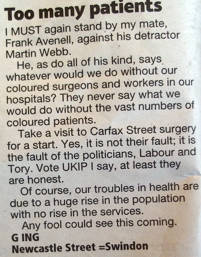coloureds ruining the nhs vote ukip