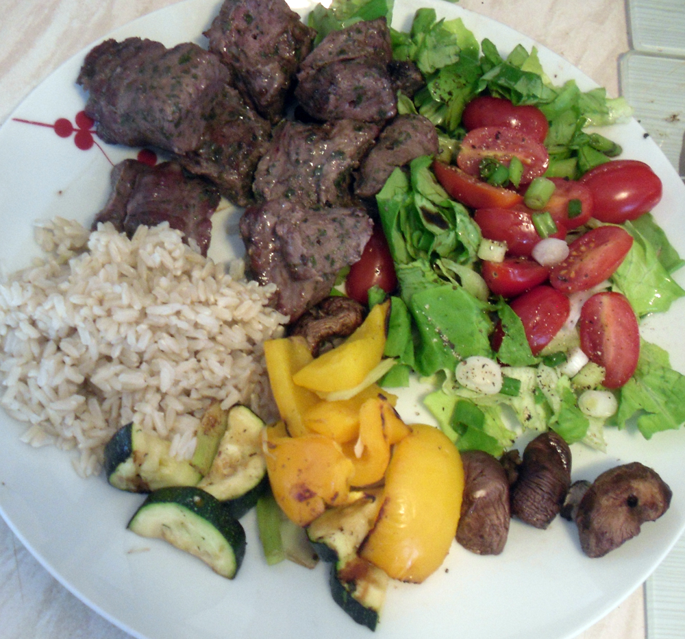 homemade kebabs at ours
