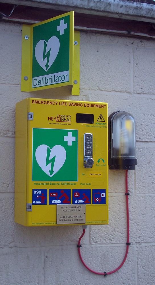 pewsey street side defibrillator