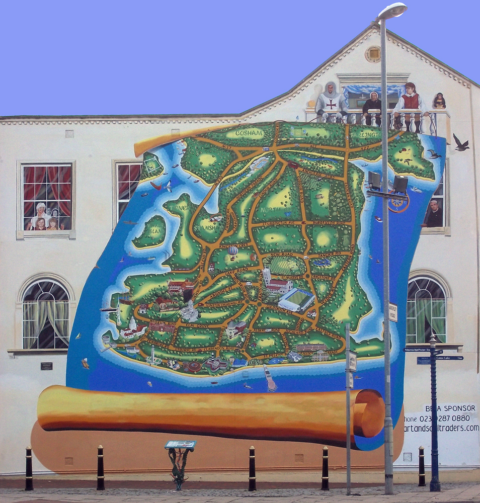 portsmouth map mural
