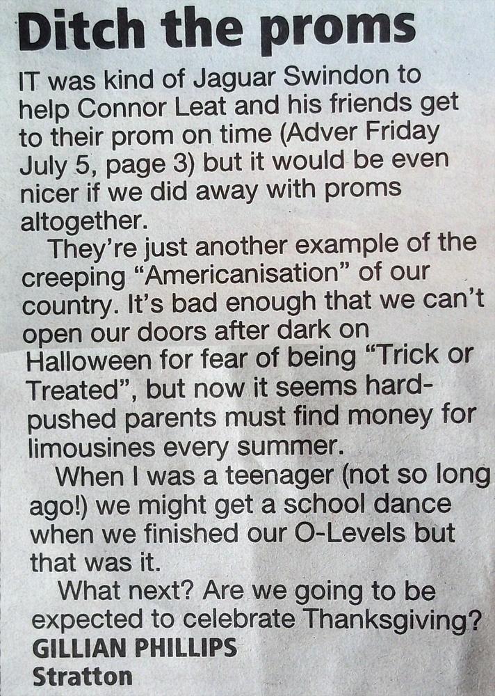 proms letter
