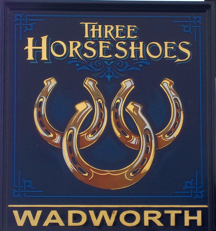 three horseshoes stibb green sign