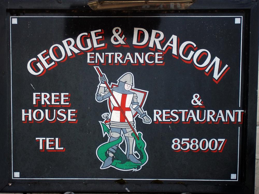 george and dragon batheaston sign