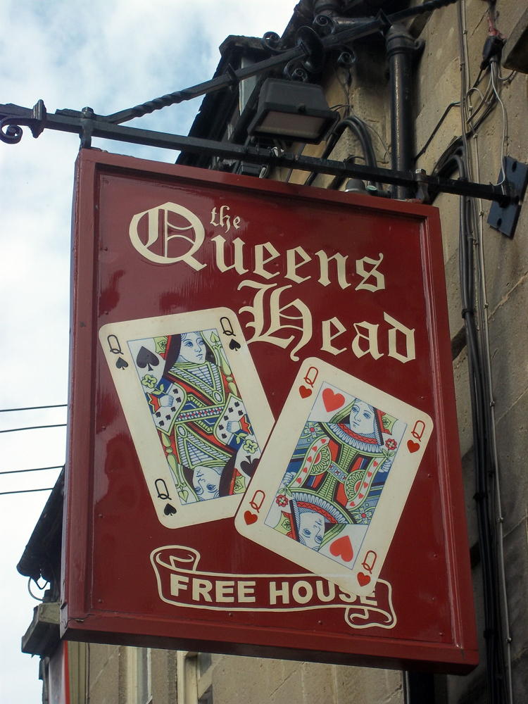 queen's head box sign