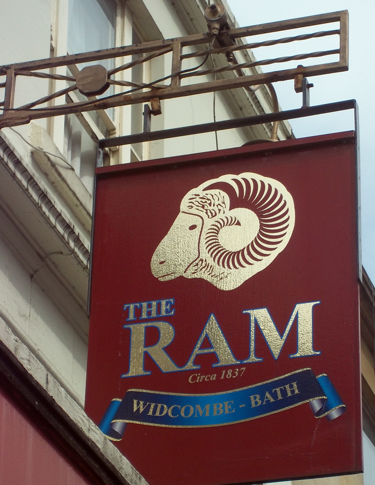ram bath spa sign