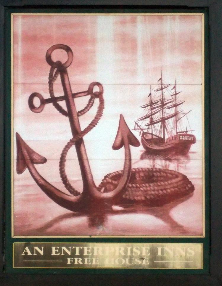 anchor inn epley sign