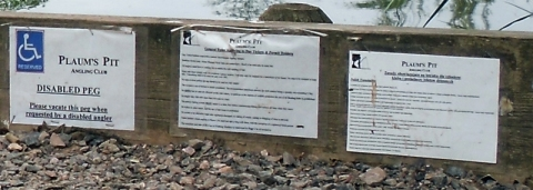 manor swindon pond signs