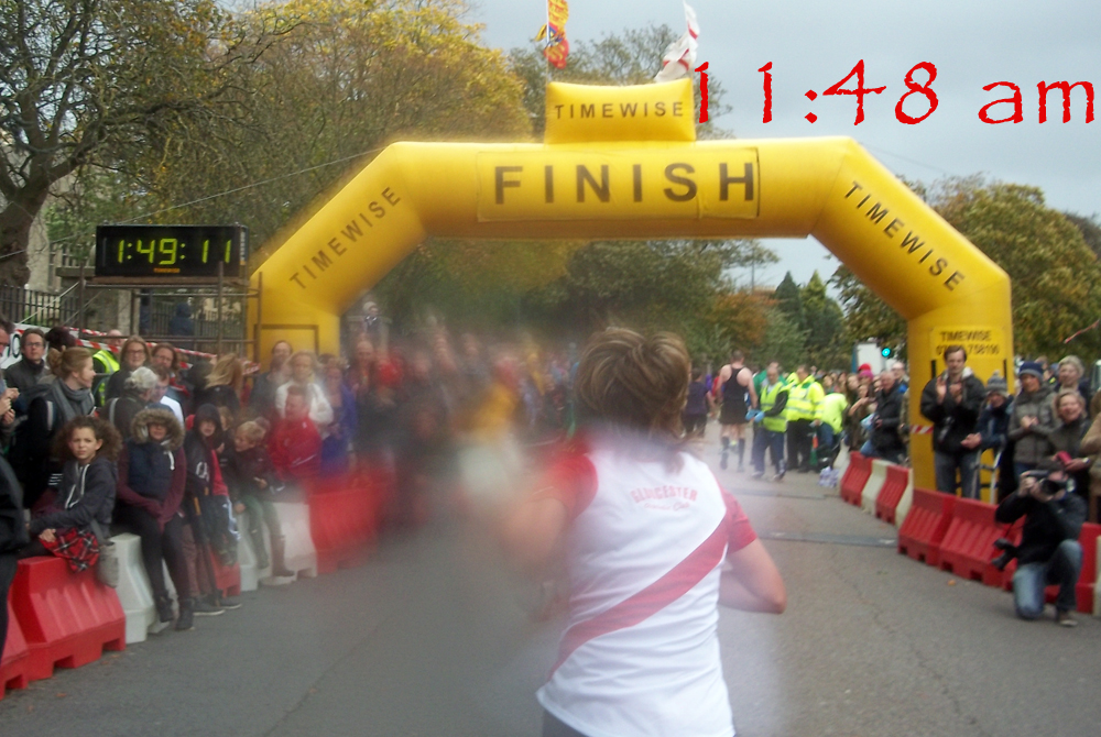 stroud half marathon finish timepoint