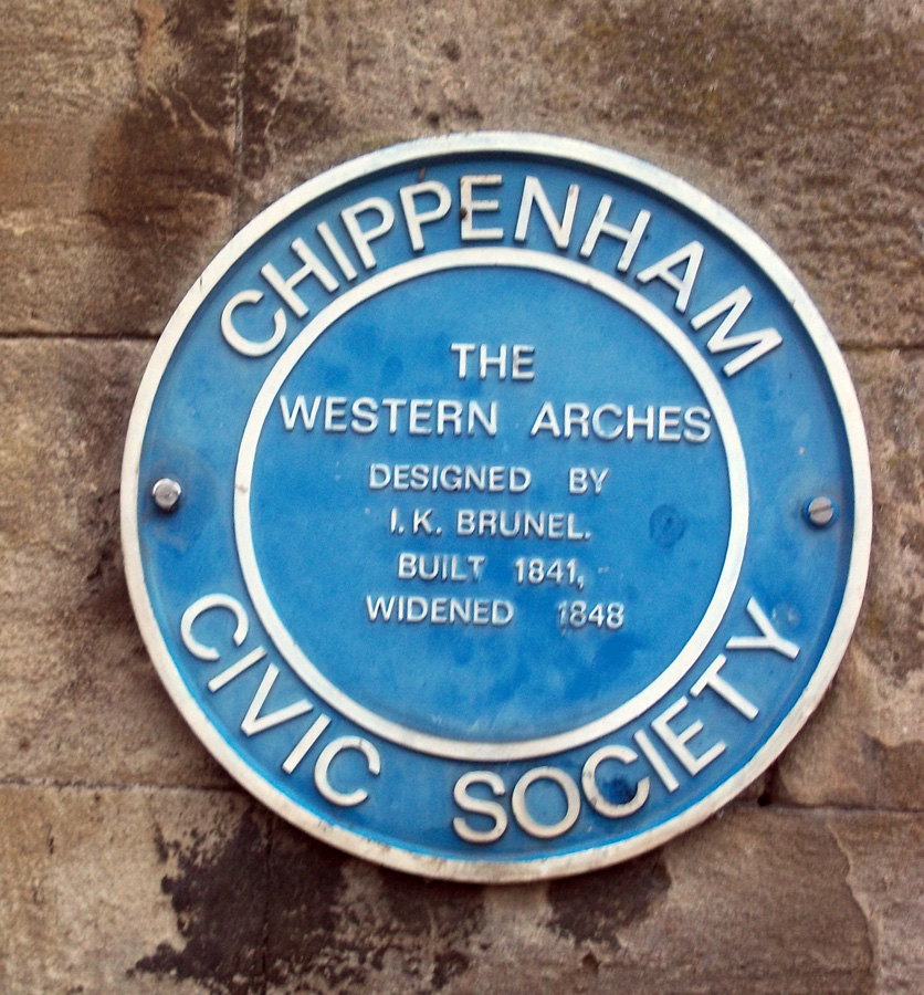 western arches blue plaque chippenham