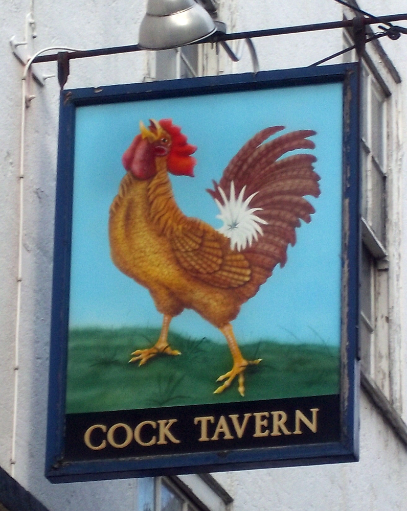 cock tavern euston london sign