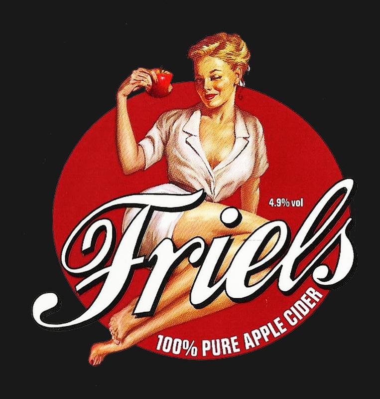 friel's cider pinup