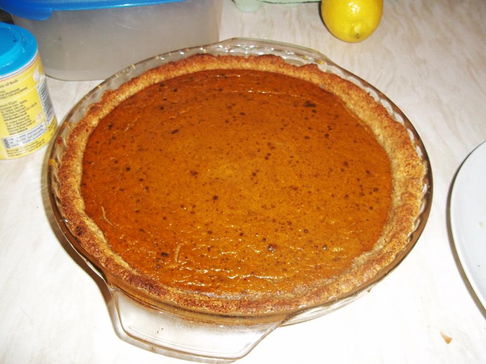 thanksgiving 2013 pumpkin pie