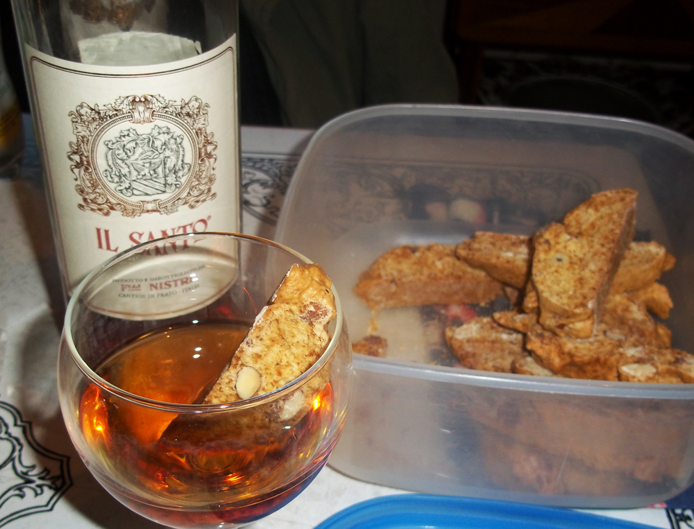 biscotti and vin santo