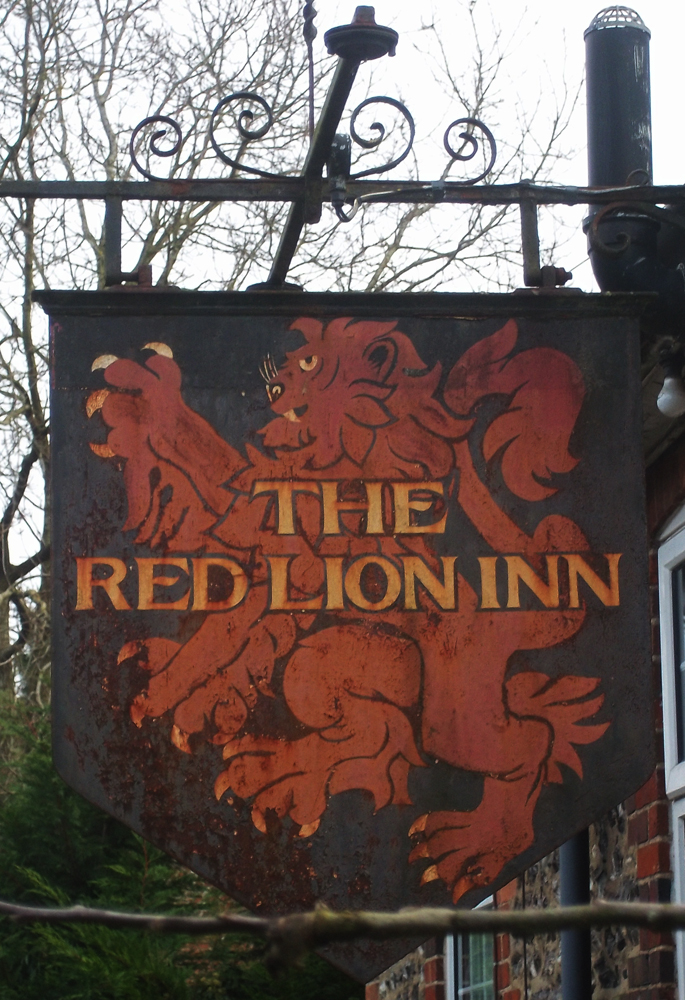 red lion axford sign